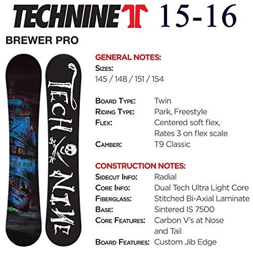 テックナイン スノーボード 板 2015-2016 テックナイン 15-16 BREWER PRO 151cm ワックスサービス!TECHNINE スノーボード 板