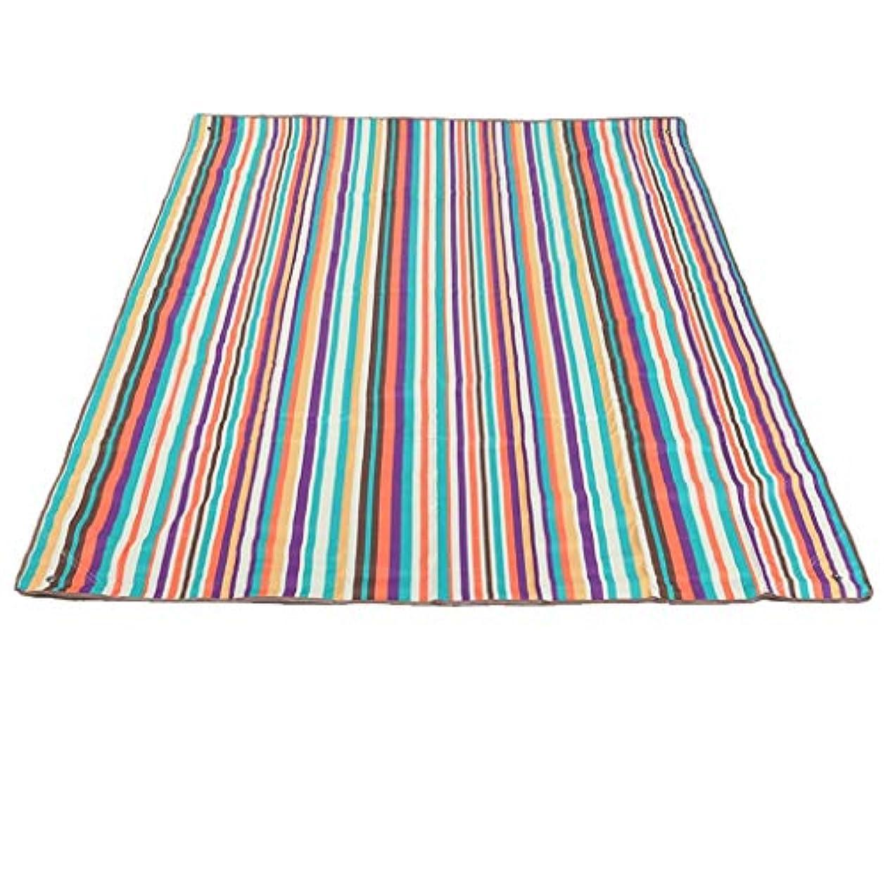 願望師匠ピクニックマット耐摩耗マットテントマット屋外防水オックスフォード布ビーチマット (Color : Color strip)