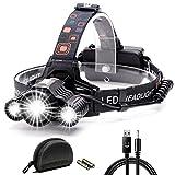 LEDヘッドライト Cobiz 超高輝度 10000ルーメン 充電式 防水仕様 18650 4段階の点灯モード 登山 夜釣り アウトドア作業 SOSフラッシュ機能