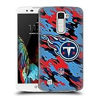 オフィシャル NFL カモフラージュ テネシー・タイタンズ ロゴ ハードバックケース LG K10 / K10 Dual SIM