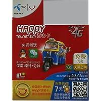 タイのデータ定額SIMカード Dtac Happy Tourist sim 3G NanoSIMタイプ!【タイ7日間unlimited!100B通話付き!】