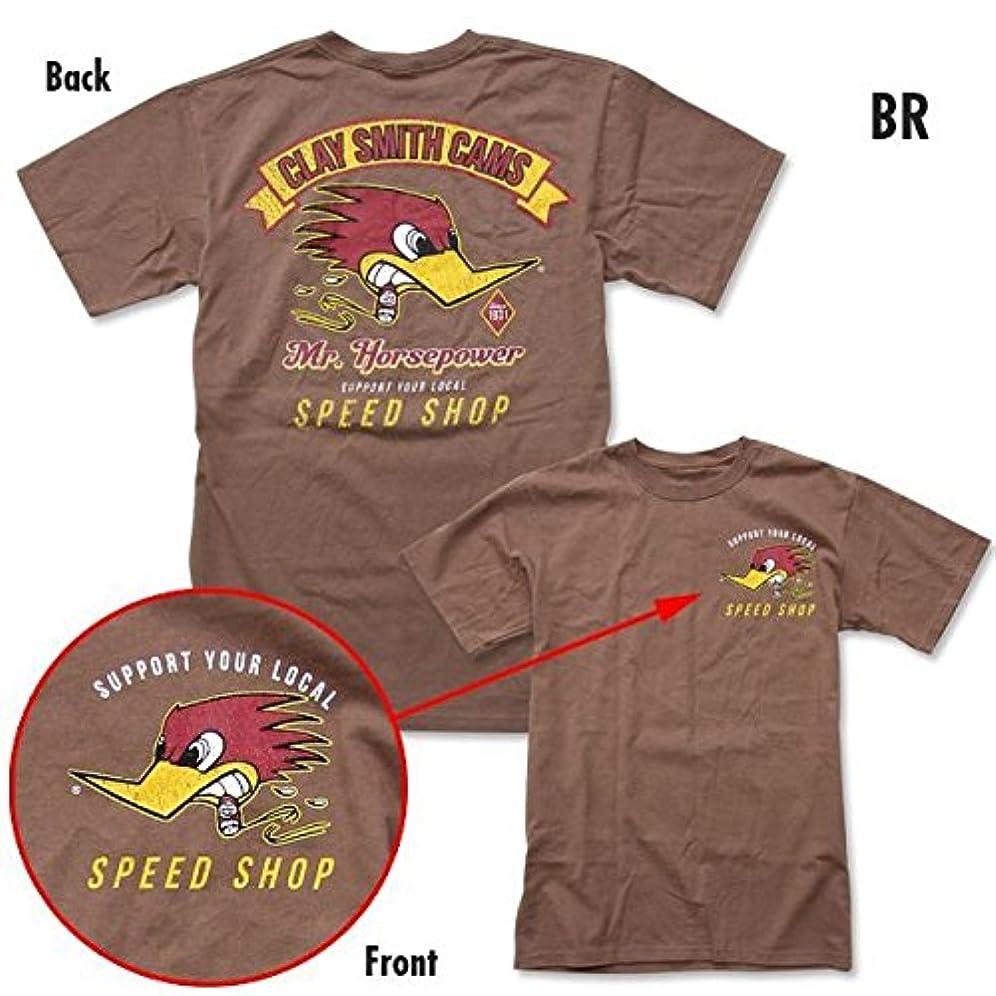 枠飽和する余計なクレイスミス スピード ショップ Tシャツ ブラウン [CST065] (M)
