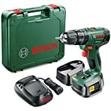 Bosch PSB 1800-LI 2 Cordless 18v Hammer Drill/Driver with 2 x 1.5 Ah Lithium-ion Batteries and Charger
