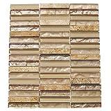 """止め板タイルSandstorm 12"""" x 8mm Mixed Materialsモザイク床、壁タイル"""