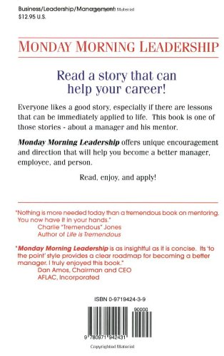 All About Monday Morning Leadership 8 Mentoring Sessions You Cant