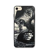 IPhone8 ケース チンパンジー猿ペインティング アイフォン8 4.7インチ おしゃれ 薄型 超軽量 指紋防止 耐衝撃 携帯カバー スマートフォンケース