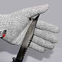 One Pair/Set Durable Use Working Safety Gloves Cut-Resistant Anti Abrasion Level 5 Kitchen Cutting Anti Cut Gloves