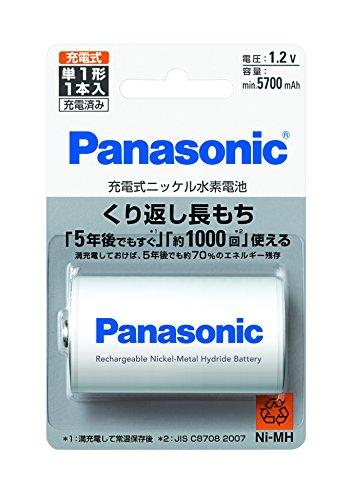 パナソニック 単1形ニッケル水素電池 充電池 1本パック BK-1MGC/1