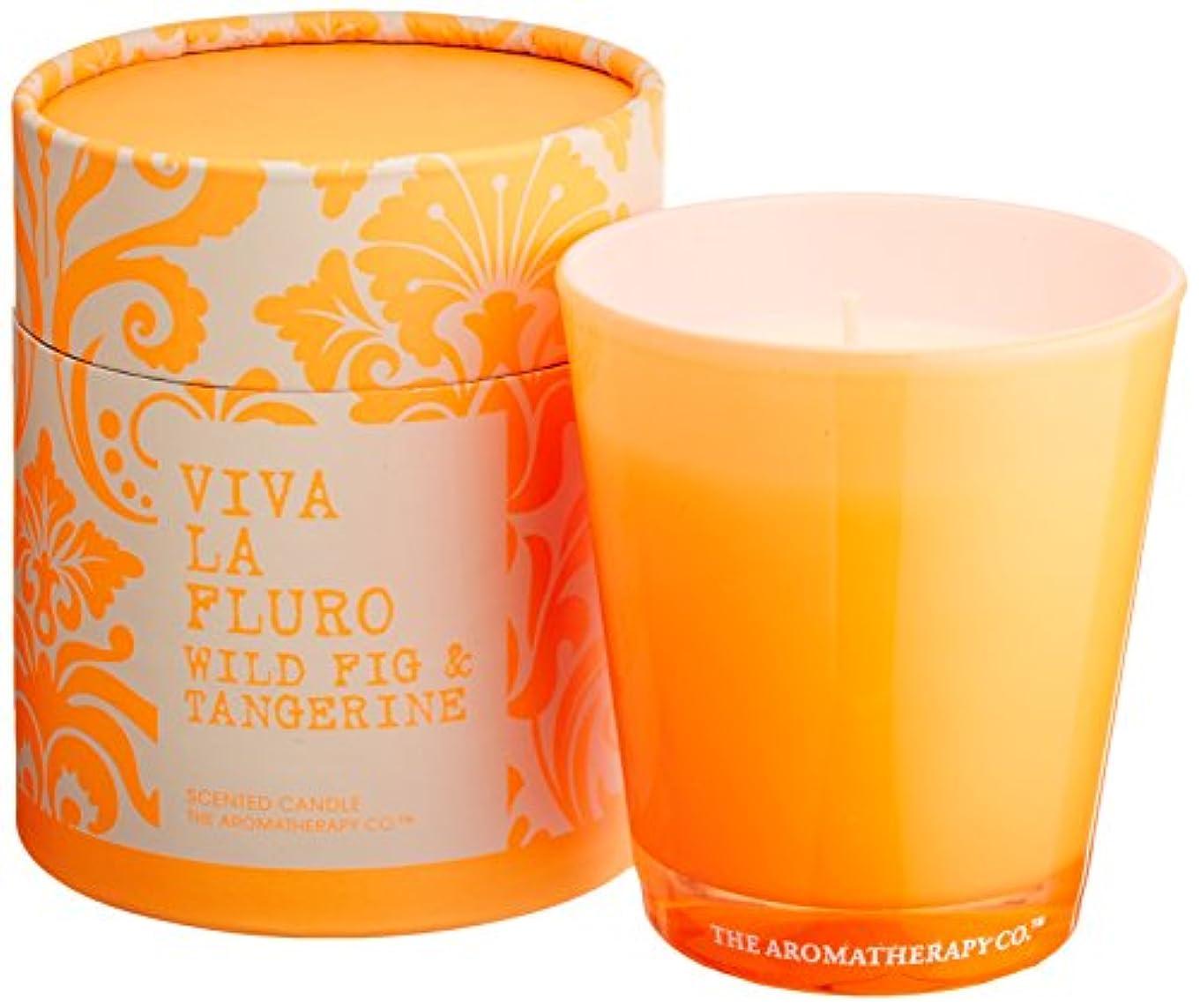 ヒップ忠誠不測の事態VIVA LA FLURO センティッドキャンドル ワイルドフィグ&タンジェリン Wild Fig&Tangerine ビバ?ラ?フルーロ