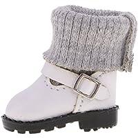 ノーブランド品  ファッション  PUレザー  マーティンブーツ  靴  12インチブライスドール用  服 3色選べる - ホワイト