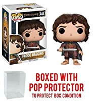 Funko POP 。Movies : The Lord of the Rings – Frodo Baggins # 444 Vinyl Figure (バンドルwith Popボックスプロテクターケース)