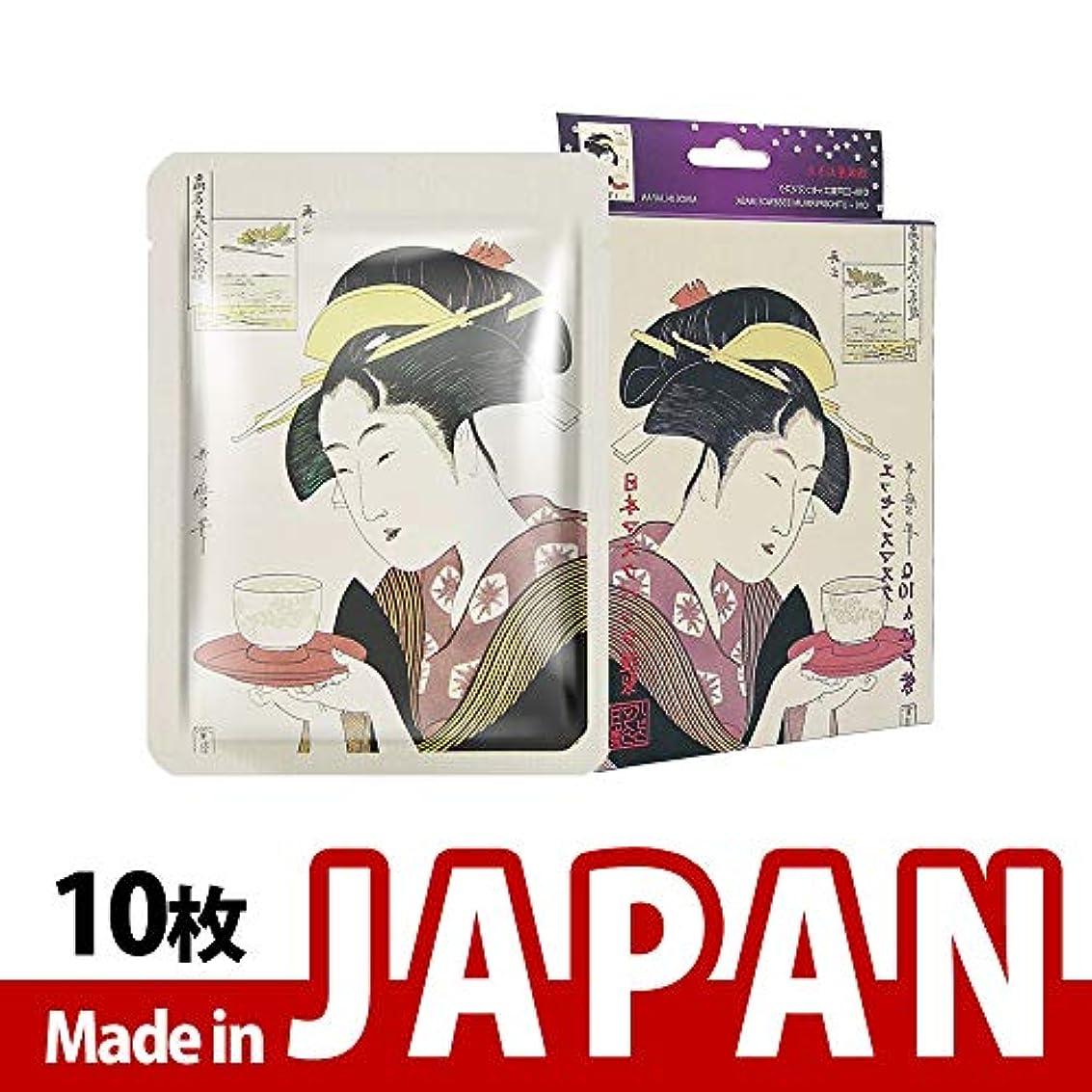 ボリューム散歩企業MITOMO【JP002-A-1】日本製Q10+ 紫根抗酸化 シートマスク/10枚入り/10枚/美容液/マスクパック/送料無料