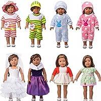 Eric & Nicole 5セットランダムClothesフィット18インチアメリカンガール人形、ミックススタイル