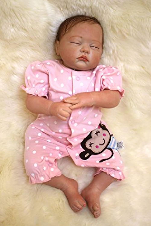 閉じた目20インチ49 cmリアルな新生児Rebornベビー人形ソフトSiliconeビニール人形Handmadeベビー人形