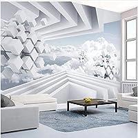 Xbwy 注文の写真の壁紙の現代抽象的な空間青い空および白い雲の壁画の居間-150X120Cm