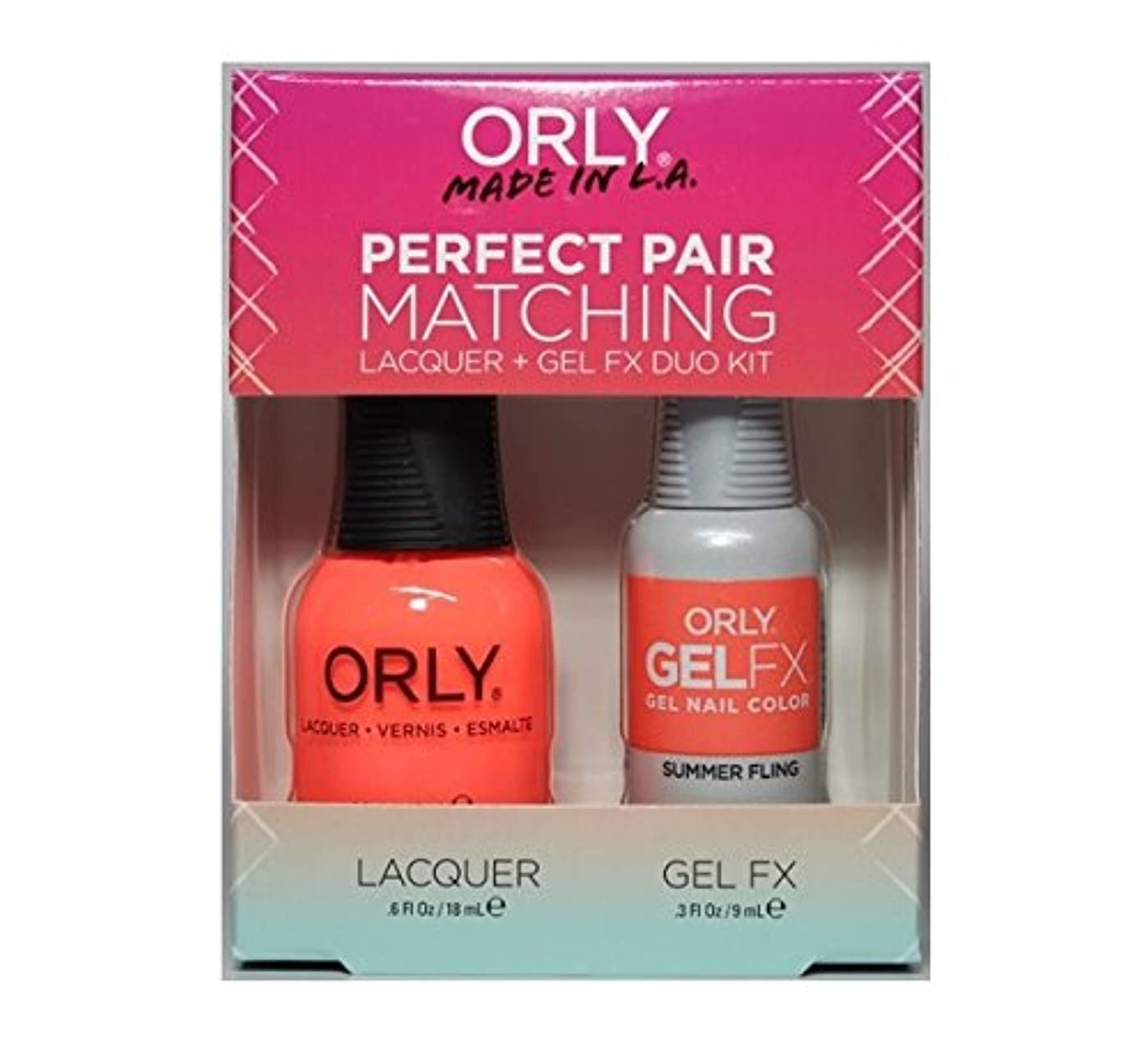 おじいちゃん対抗パイプラインOrly Lacquer + Gel FX - Perfect Pair Matching DUO Kit - Summer Fling