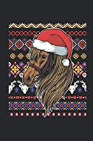 Christmas Sweater - Horse: Blank Lined Notebook / Journal (6 X 9) – Christmas Gift for Kids, Teens, Mom And Dad