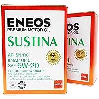 ENEOS (エネオス) SUSTINA (サスティナ) エンジンオイル 5W-20 SN/RC/GF-5 (100%化学合成油) 4L×2缶セット