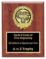 科学Plaque Awards 6x 8Wood Academic Trophiesトロフィー教育Free Engraving