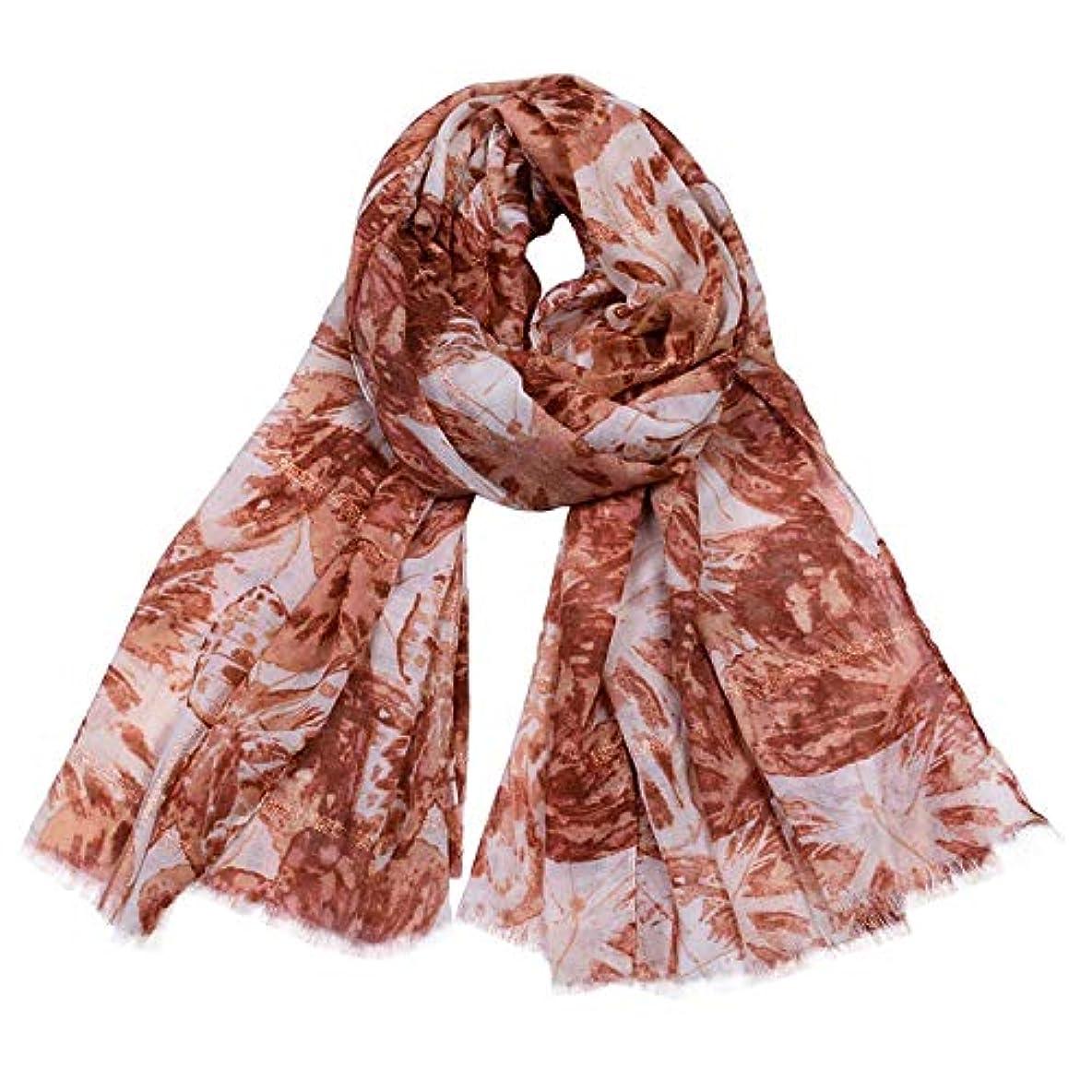 ピル道徳教育へこみスカーフ 綿とリネン 新しい ゴールドワイヤー 蝶プリント ポンピング ショール 四季通用 女性