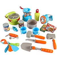 Little Explorers 20 Piece Camping Gear Toy Tools Play Set for Kids by Liberty Imports [並行輸入品]
