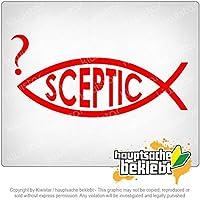 懐疑的な魚 Sceptic fish 17cm x 9cm 15色 - ネオン+クロム! ステッカービニールオートバイ