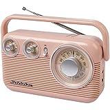 Studebaker SB2003 Retro Portable AM/FM Radio AC or Battery Operated (Rose Gold)