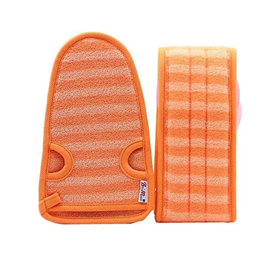 暫定モノグラフ例外女性オレンジのための柔らかいミトンの剥離手袋のバスベルトの2