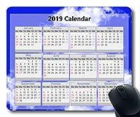 2019カレンダーマウスパッド、新年マウスパッド、星空の絵ゲーム用マウスパッド