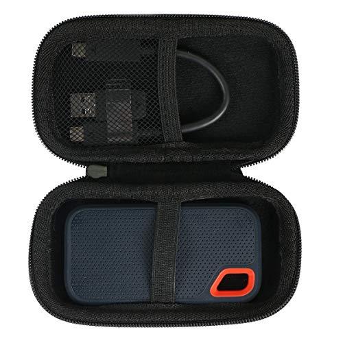 SanDisk 外付SSD 250GB 250GB 500GB 2TB 1TB エクストリーム ポータブル 対応 専用保護 キャリングケース 旅行収納 (シンプルタイプ)
