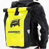 メッセンジャー バッグ HUMMER(ハマー) 防水メッセンジャーバックパック HUMMERロゴ入り マチ部分的再帰反射塗料 背中パット入り 大容量バッグ(マジックテープ開閉式) 13914-0099