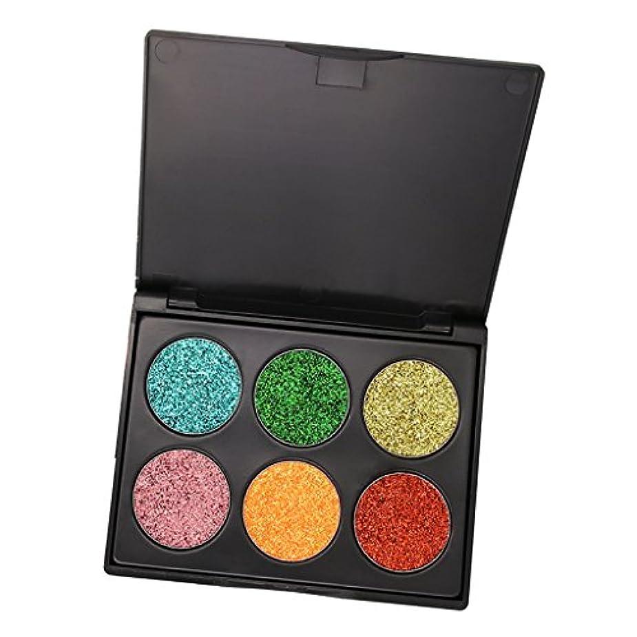 密接に成長するアレイ6色 キラキラ アイシャドウ パウダー アイシャドー 化粧 パレット シマーセット 全3種類 - #C