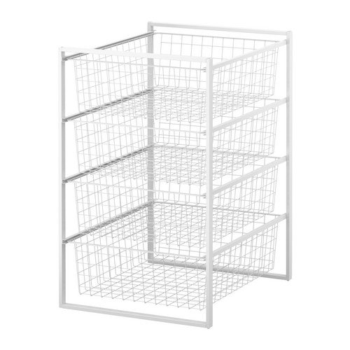 ★ANTONIUS フレーム/ワイヤーバスケット / ホワイト[イケア]IKEA(S89876455)