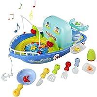 釣りゲーム回転電子釣りボードゲームキッチンPretend Play Toy音楽の多機能セット3 in 1 Great Gift for Kids over 3 years ( Largeサイズ)