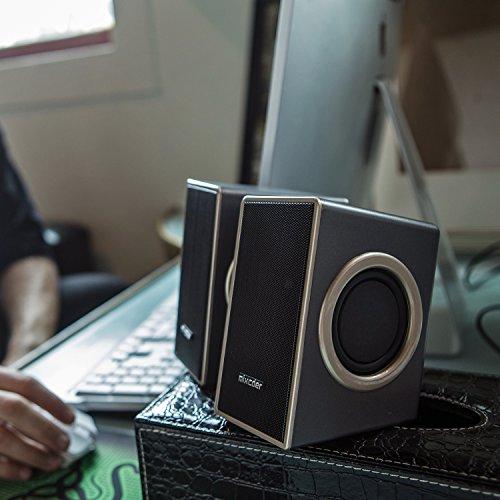 『PCスピーカー Mixcder MSH169 USB ステレオ マルチメディア スピーカー ステレオミニプラグ音源 小型 重低音 』の6枚目の画像