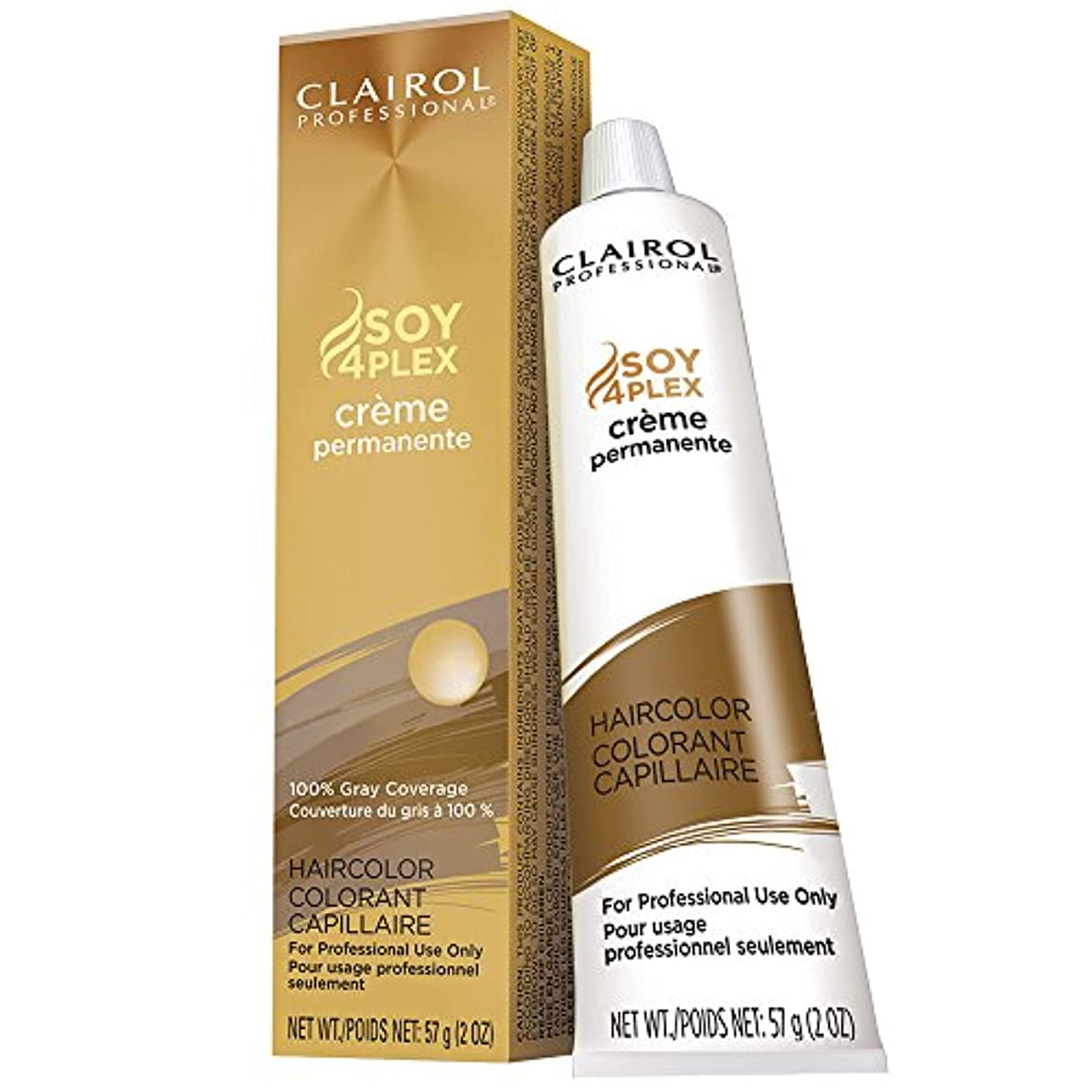 リズムたとえ自分自身Clairol Professional - SOY4Plex - Creme Permanente - Medium Neutral Blonde 7N - 2 oz / 57g