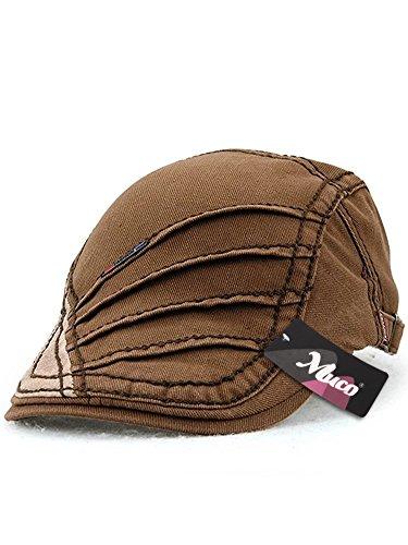 (ムコ) MUCO キャスケット ハンチング帽 欧米風 オシャレ カジュアル 調節可能 アウトドア ゴルフ ギフト メンズ レディース(6カラー) brown