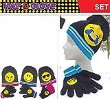 アウトドア用品 1 Set - Hat & Glove Cute Emoji Kid Plush Indoor Outdoor - Random Colour