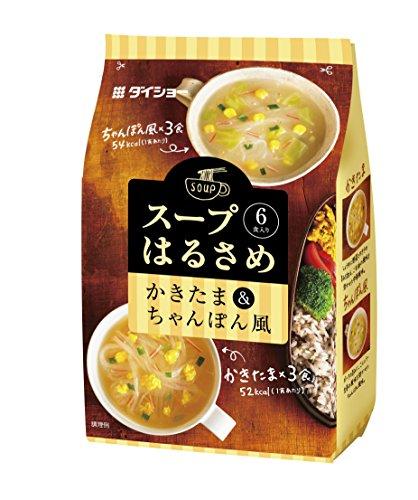 ダイショー スープはるさめ かきたま&ちゃんぽん風 97.5g(6食入り)×10袋入
