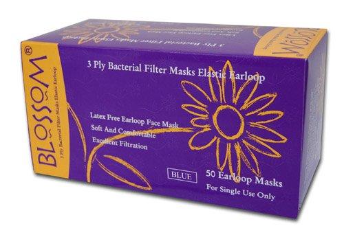 人気色 ライトブルー 細菌ろ過効率(BFE) 97-98% 医療用 使い捨て マスク ライトブルー 50枚入 新型インフルエンザ 対策