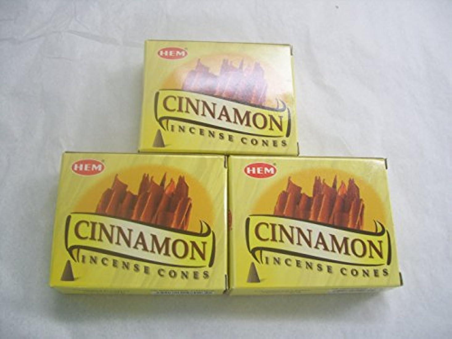 バイソン野心司法Hemシナモン香コーン、3パックの10 Cones = 30 Cones