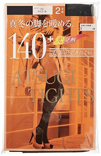 (アツギ)ATSUGI タイツ 140D アツギ タイツ (ATSUGI TIGHTS) 140デニール 〈2足組2セット〉 FP14002P 110 チャコール M~L