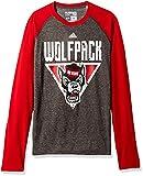 アディダス 長袖Tシャツ NCAA North Carolina State WolfpackメンズカラーSplat Ultimate L / Sラグランteecolor Splat Ultimate L / SラグランTシャツ、ダークグレーヘザー、スモール