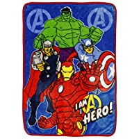 [マーベル]Marvel Avengers Assemble Toddler Plush Fleece Blanket [並行輸入品]