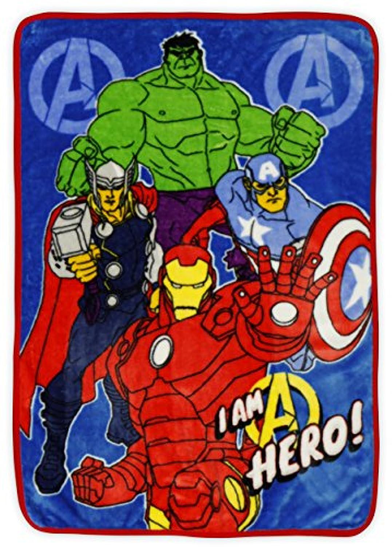 [マーベル]Marvel Avengers Assemble Toddler Plush Fleece Blanket [並行輸入品]