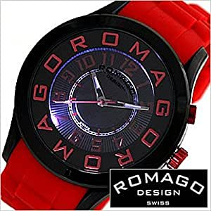 ロマゴデザイン腕時計[ROMAGODESIGN時計 ROMAGO DESIGN 腕時計 ロマゴ デザイン 時計 ]アトラクション シリーズ[ATTRACTION SERIES]/メンズ/レディース/男女兼用時計ディース時計/RM015-0162PL-BKRD
