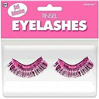 [Amscan]Amscan Party Ready Team Spirit Tinsel Eyelashes , Pink, 5.5 x 5.3 397281.103 [並行輸入品]