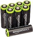 Amazonベーシック 充電式ニッケル水素電池 単3形8個パック (最小容量1900mAh 約1000回使用可能)