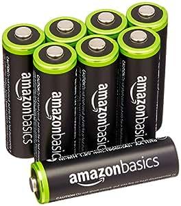 Amazonベーシック 充電池 充電式ニッケル水素電池 単3形8個パック (最小容量1900mAh、約1000回使用可能)