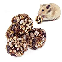 ULIGOTA Crunchy Chew Treats for Hamsters Small Animal Food and Chew Toy for Gerbils Rats [並行輸入品]